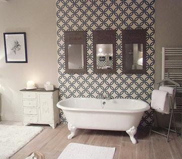 Carrelage salle de bain carreau ciment