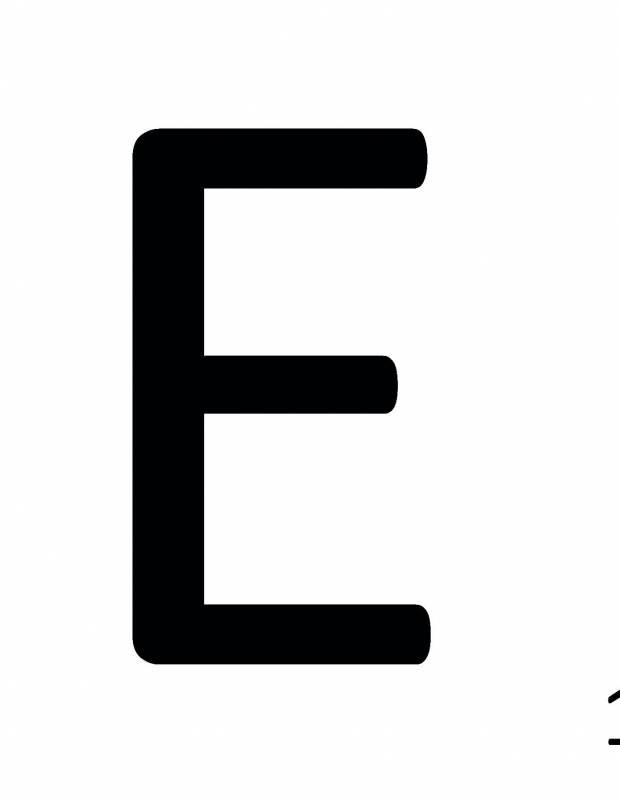 Scrabble-Fliese Buchstabe E 10 × 10 cm - LE0804005