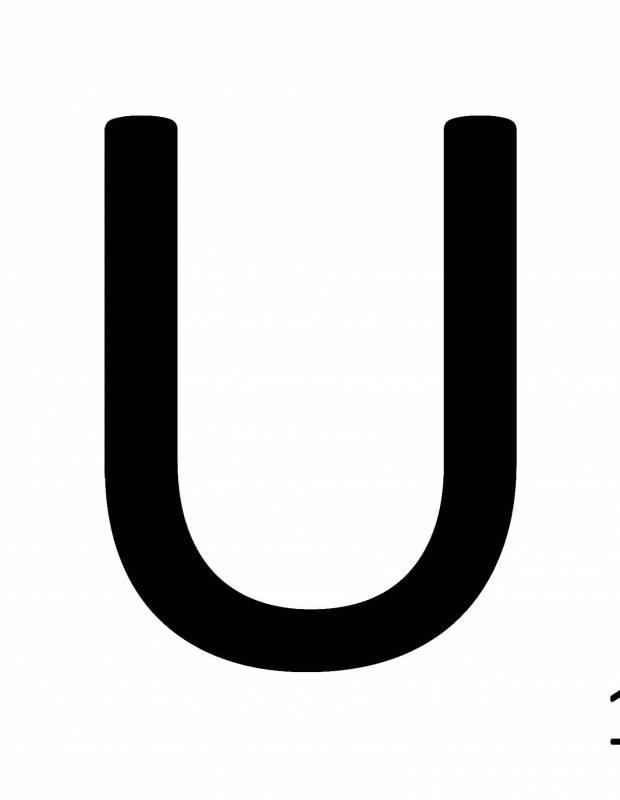 Scrabble-Fliese Buchstabe U 10 × 10 cm - LE0804021