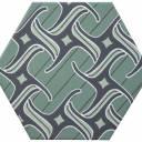 Carrelage hexagonal, la tomette grès cérame good vibes - GO0812004