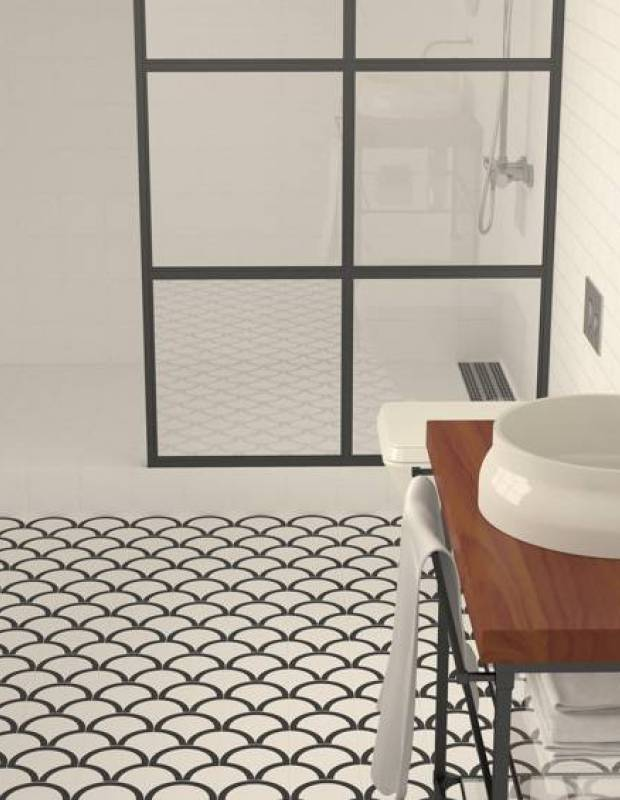 Carrelage 15 x 15 cm imitation carreaux de ciment - RA9705034