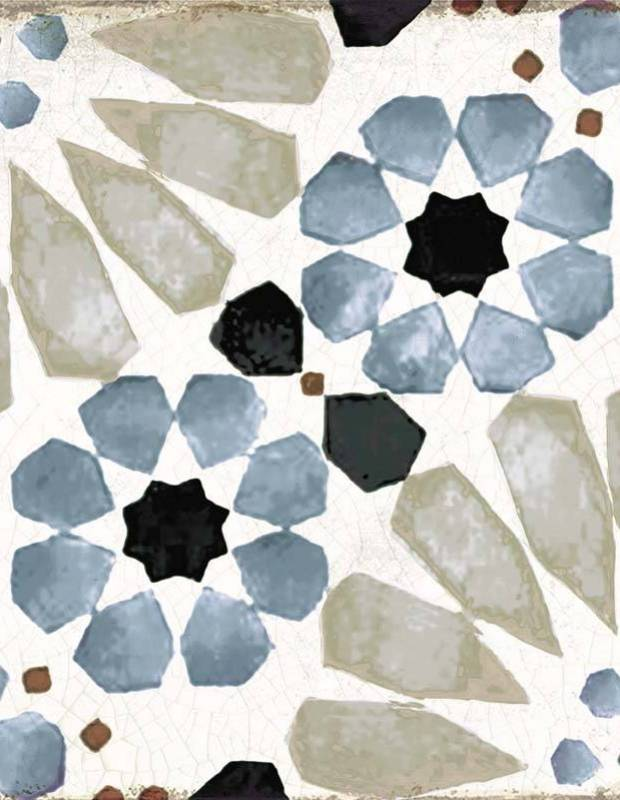 Bodenfliese mit maurischen Mustern - GR8504002