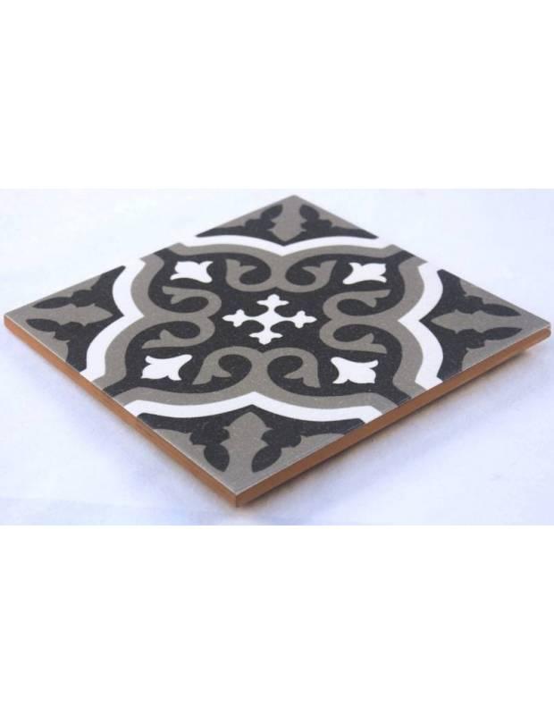 Zementfliesen-Imitat Boden und Wand schwarz 20 × 20 cm - FL0115001