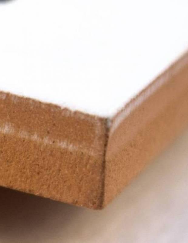 Zementfliesen-Imitat weiß 20 × 20 cm - BU0116001