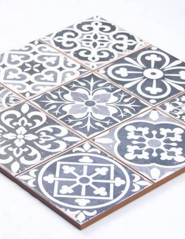 Fliese antik matt schwarz 33 × 33 cm - FS1104007