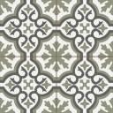 Imitation carreaux de ciment en grès cérame - décor vert - ST1140001