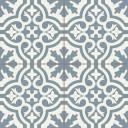 Carrelage imitation carreaux de ciment neufs - bleu & blanc - TI1138001