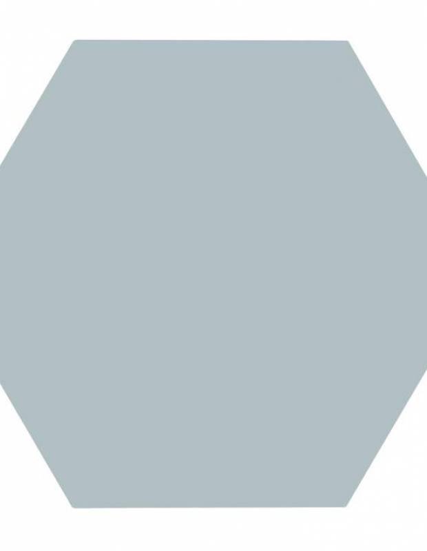 Sechseckige Fliese einfarbig wassergrün Steinzeug 10 mm dick