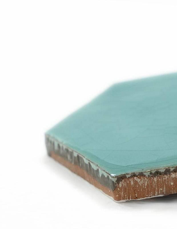 Sechseckige Wandfliese Tomette handgearbeitet - CE1406060