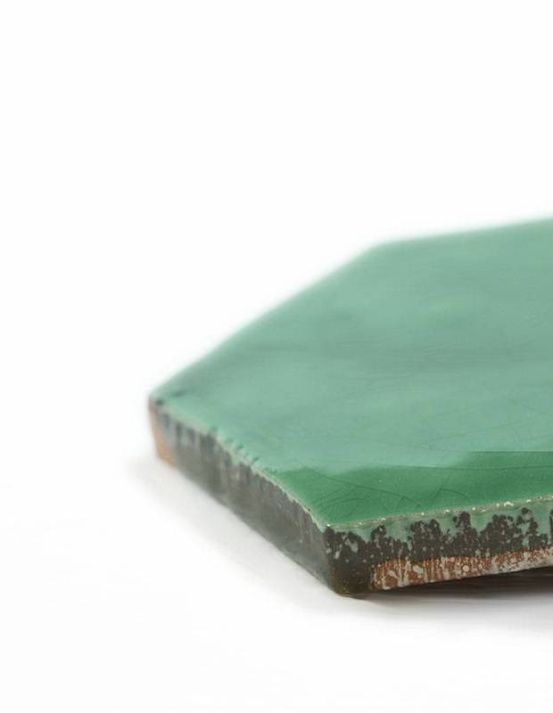 Sechseckige Wandfliese Tomette handgearbeitet - CE1406046
