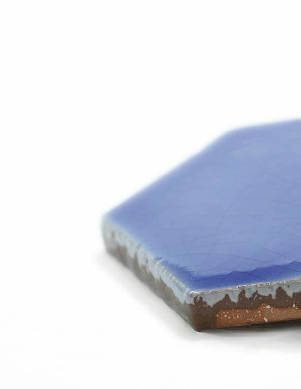 Sechseckige Wandfliese Tomette handgearbeitet - CE1406030