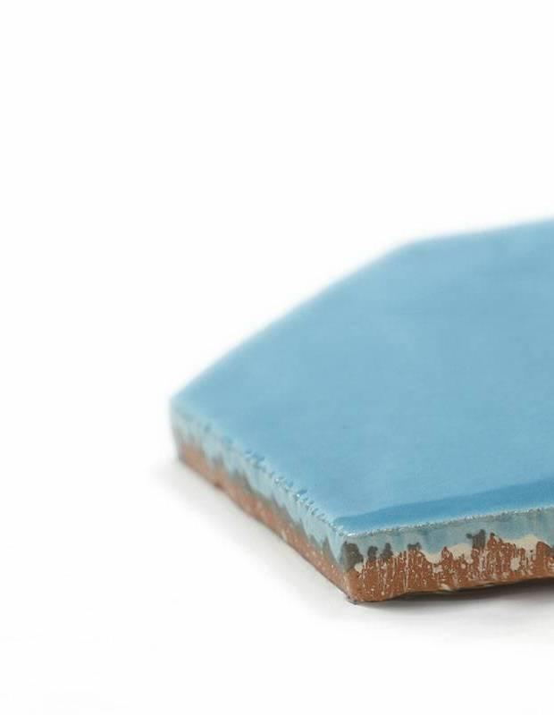 Sechseckige Wandfliese Tomette handgearbeitet - CE1406029