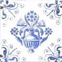 Wandfliese Dekor handgearbeiteter Stil 15 × 15 cm - OP3503002