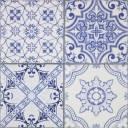 Carrelage mural azulejo bleu patchwork - AR3501001