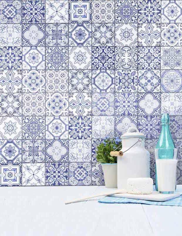 Wandfliese Azulejo blau Patchwork - AR3501001