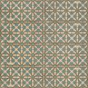 Retro-Wandfliese orientalisches grün-gelbes Dekor RI0112001