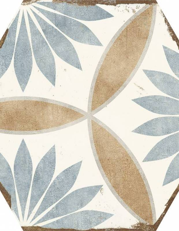 Carrelage hexagonal rétro imitation carreau de ciment - BO8506001