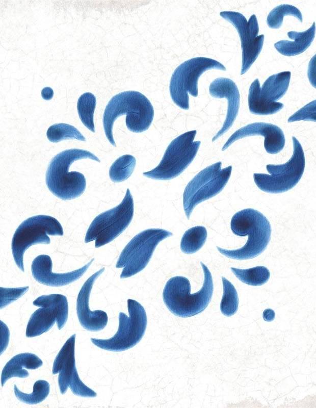 Carrelage style azulejo effet ancien décor 2 - BL5902003