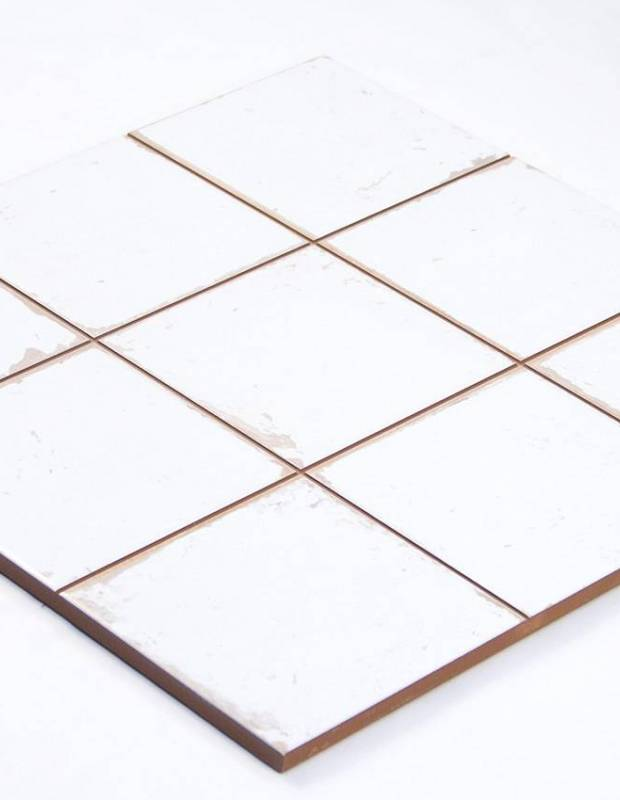 Fliese antik matt weiss 33 × 33 cm - FS1104008