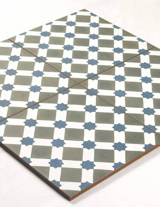 Carrelage imitation carreau ciment sol 45 x 45 cm - HE1105002
