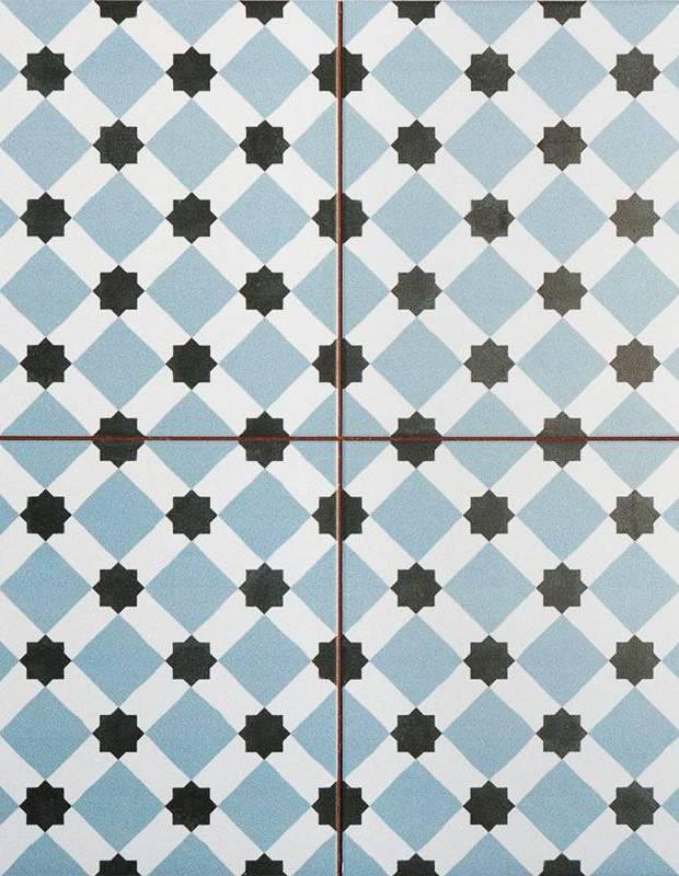 Carrelage imitation carreau ciment sol 45 x 45 cm - HE1105007