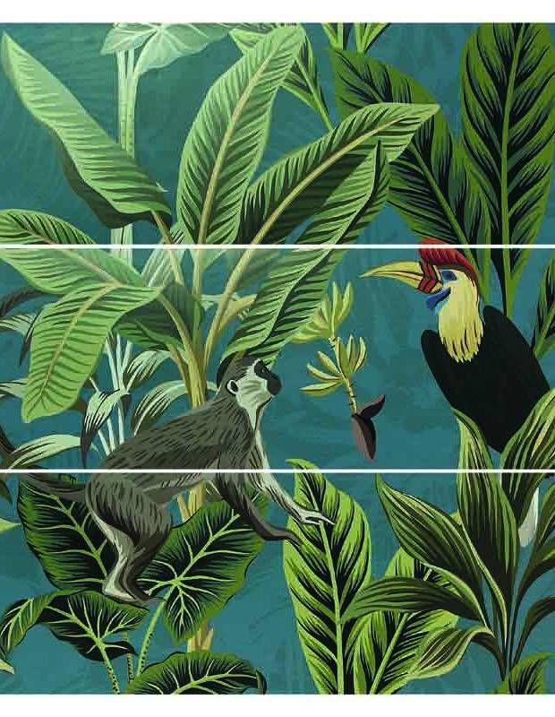 Kollektion Jungle exotischer moderner Stil