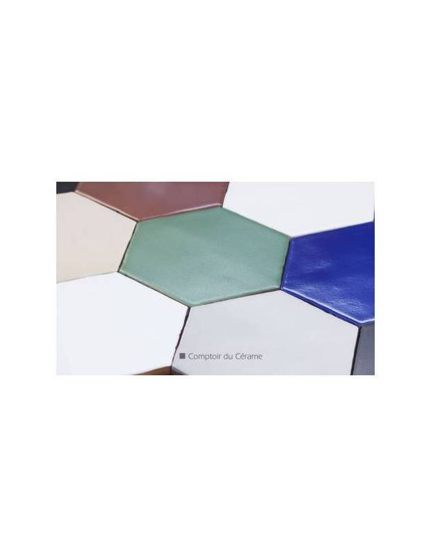 Fliese sechseckig matt schwarz 15 × 15 cm - HE0811007