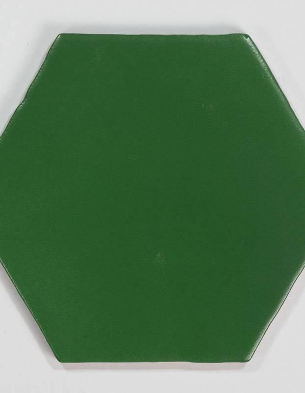 Fliese sechseckig matt grün 15 × 15 cm - HE0811008