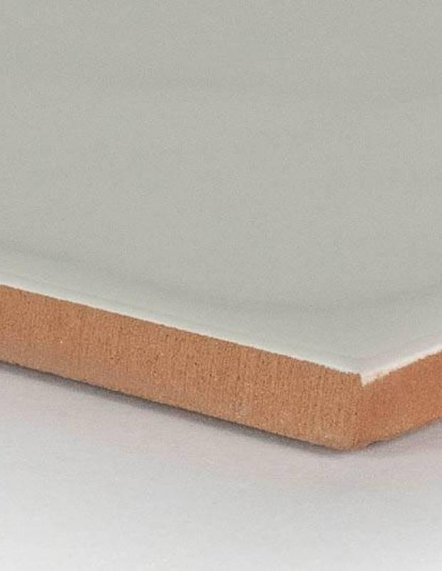 Gehämmerte Fliese 15 × 15 cm weiß Handmade-Effekt - LU7404051