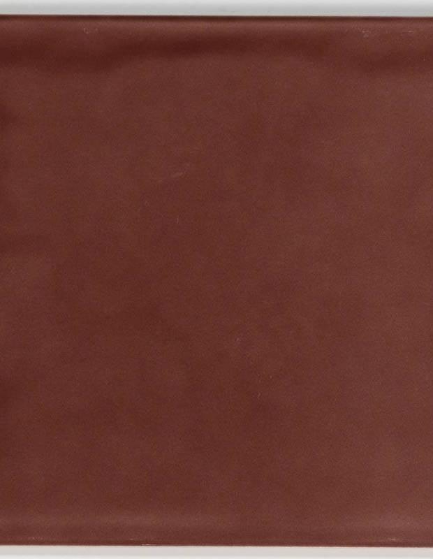 Carrelage 15 x 15 cm martelé bordeaux à effet artisanal - LU7404054