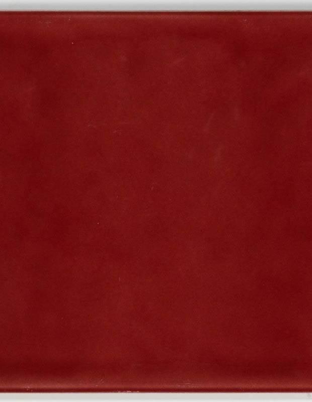 Carrelage 15 x 15 cm martelé carmin à effet artisanal - LU7404055