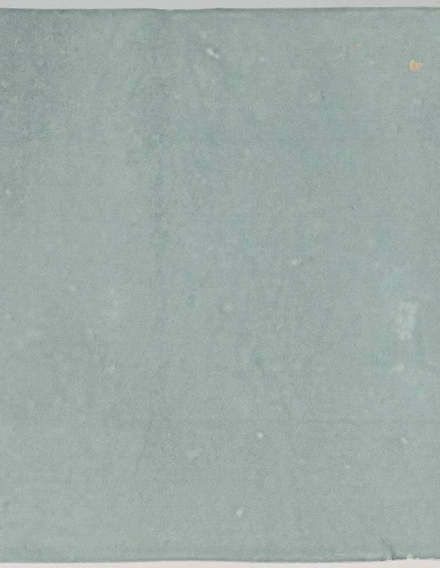 Zellij hellblau glänzend handwerklicher Stil 12,5 × 12,5 cm - ZE5901005