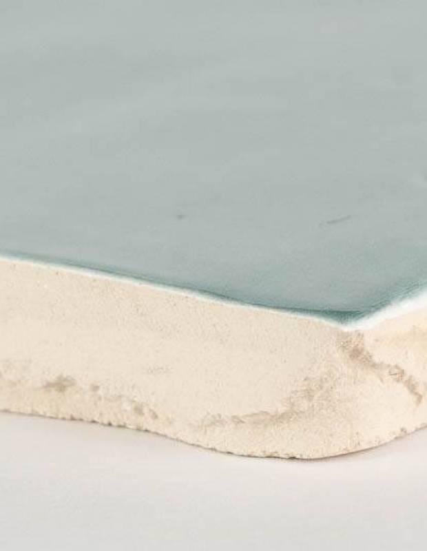 Zellige bleu clair brillant style artisanal 12.5 x 12.5 cm - ZE5901005