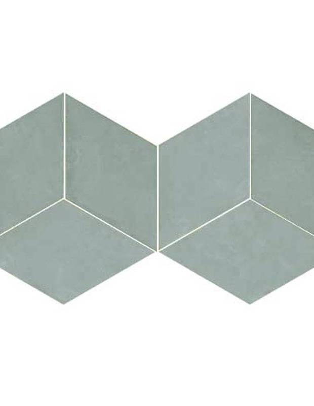Rautenförmige Fliesen in Türkistönen für den Innen- und Außenbereich - MU5903003