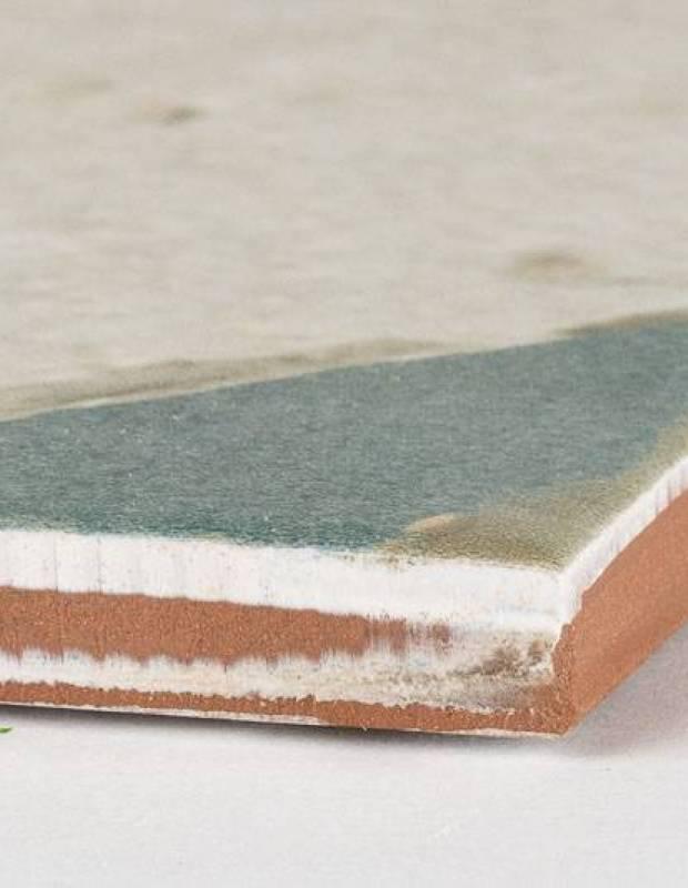 Fliese antik Achteck-Look, 45 × 45 cm weiß und blau - FS1145002