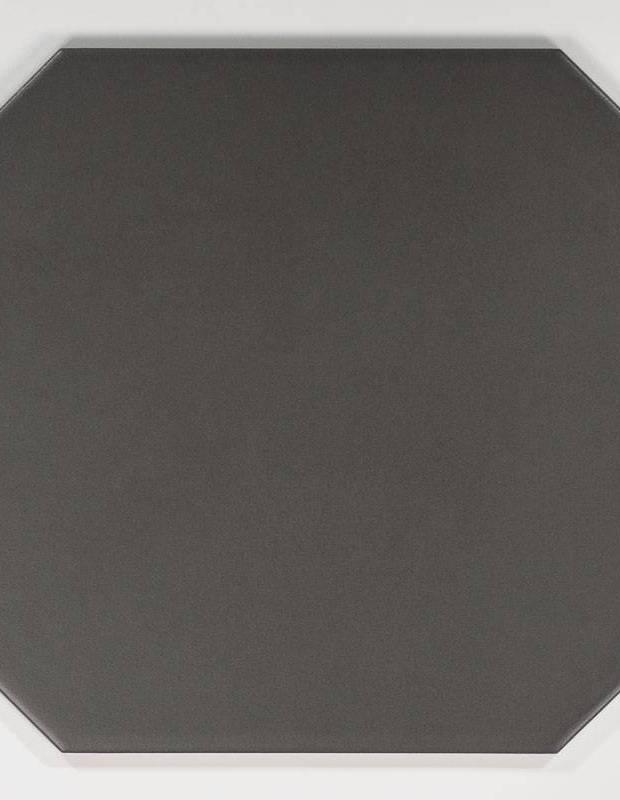 Fliese achteckig mattschwarz 20 × 20 cm - VO0606010