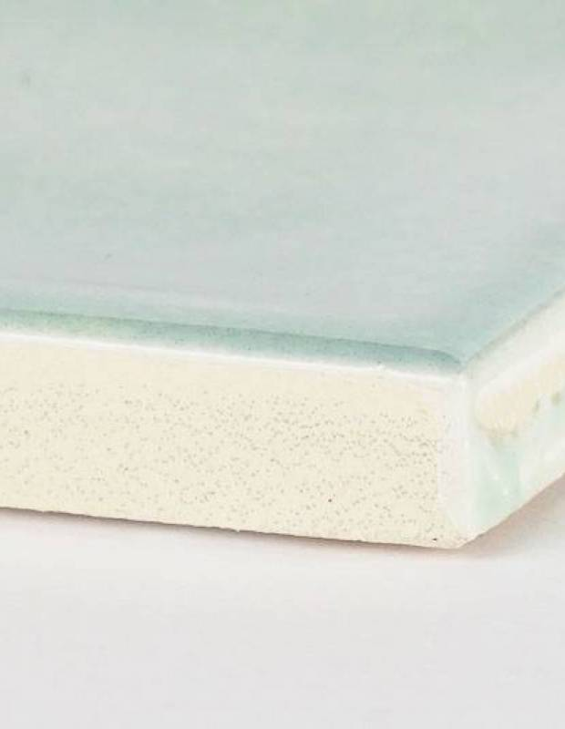 Zellij blassblau rechteckig 7,5 × 30 cm - glänzende Emaille - NA9505003