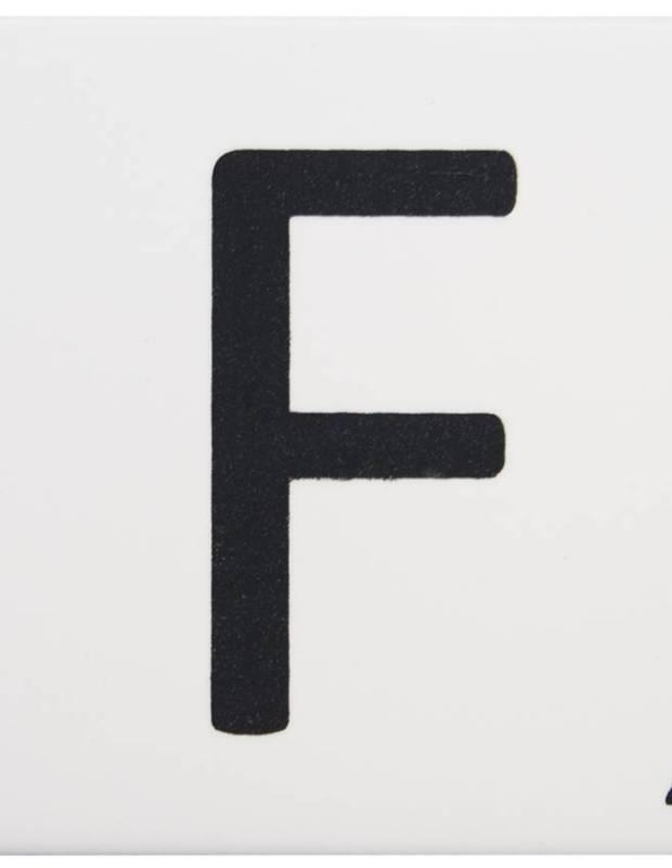 Scrabble-Fliese Buchstabe F 10 × 10 cm - LE0804006