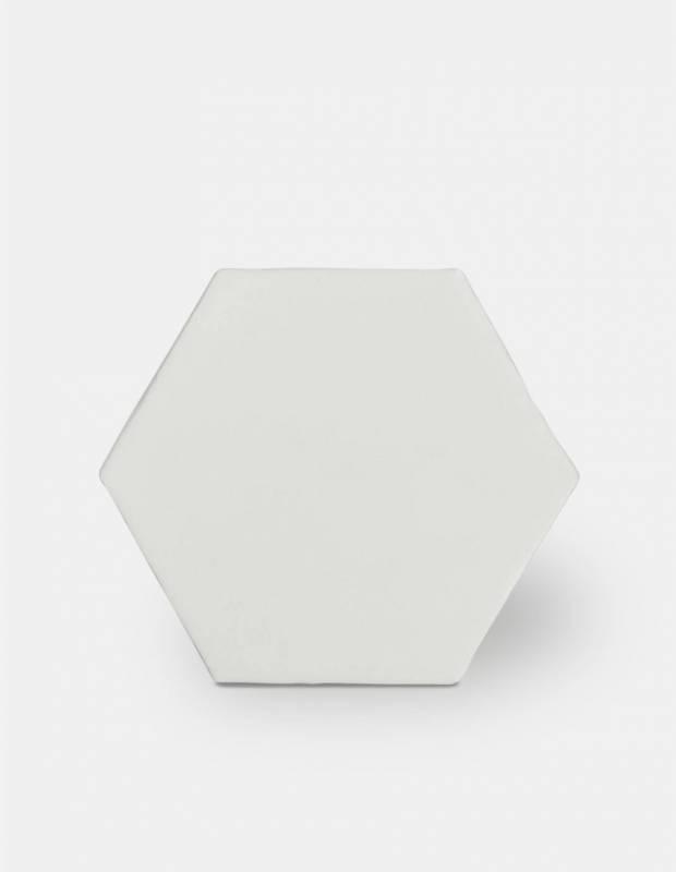 Fliese sechseckig matt weiß 15 × 15 cm - HE0811001