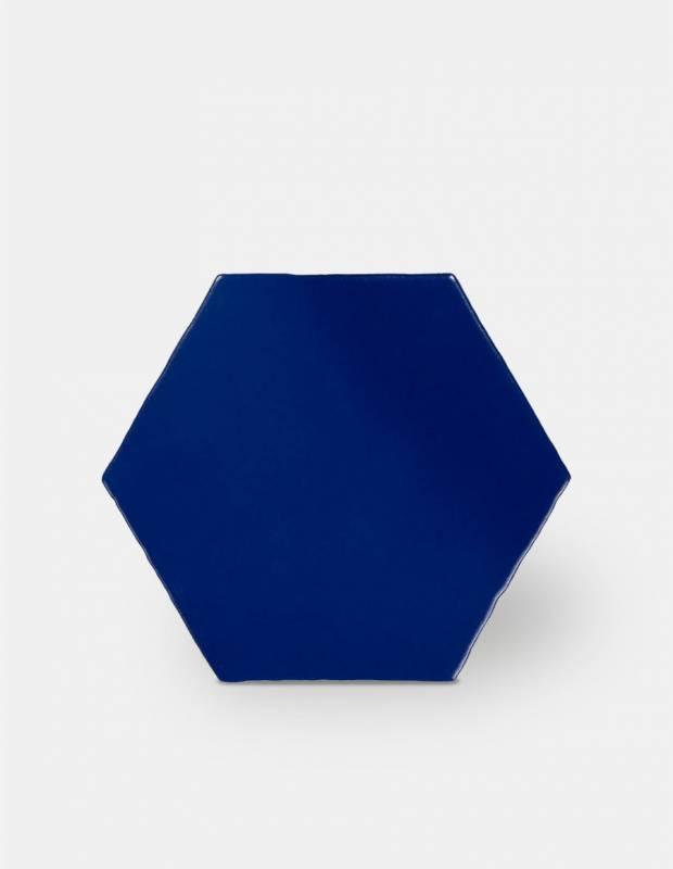 Fliese sechseckig matt blau 15 × 15 cm - HE0811004
