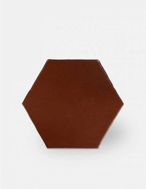 Fliese sechseckig matt rot 15 × 15 cm - HE0811005
