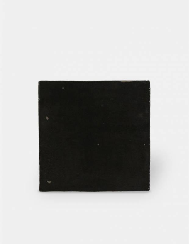 Zellige gris foncé brillant style artisanal 12.5 x 12.5 cm - ZE5901004