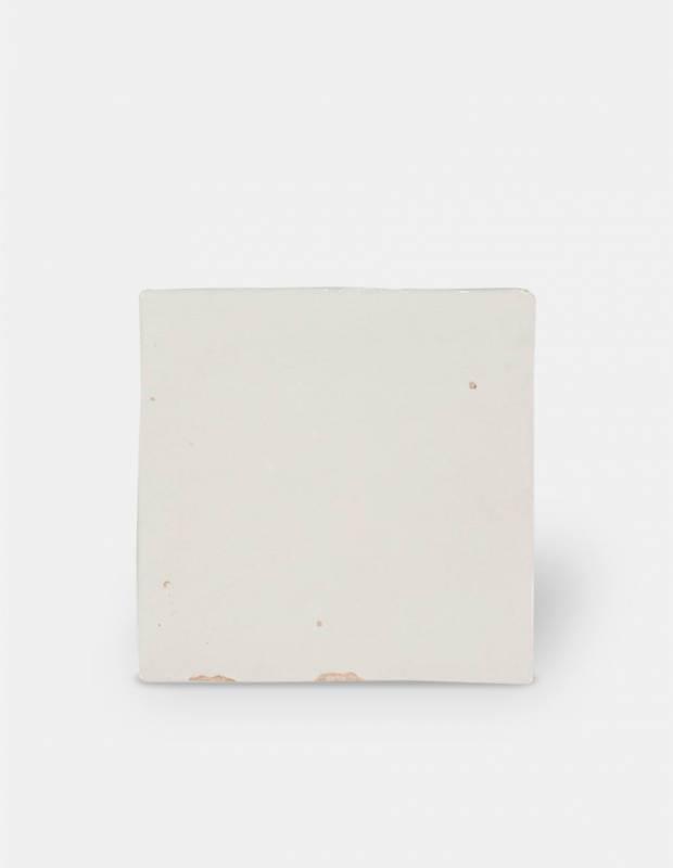 Zellij weiß glänzend handwerklicher Stil 12,5 × 12,5 cm - ZE5901002