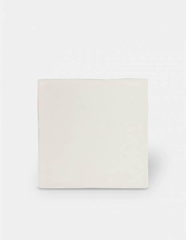 Zellige blanc mat style artisanal 12.5 x 12.5 cm - ZE5901001