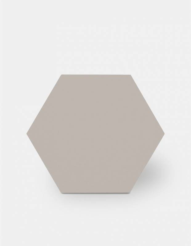 Sechseckige Fliese einfarbig grau Steinzeug 10 mm dick