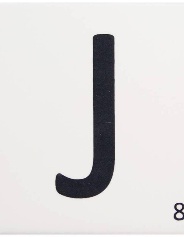 Carrelage scrabble lettre J 10 x 10 cm - LE0804010