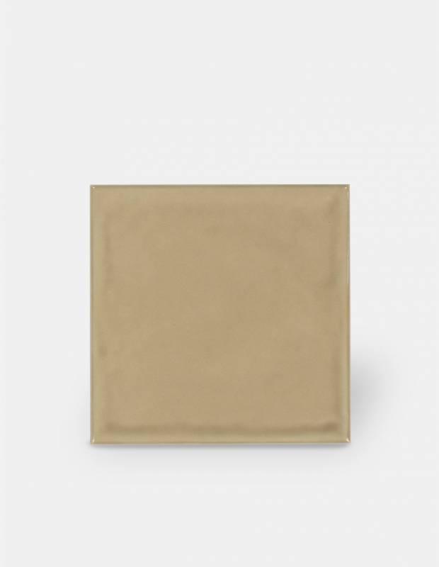 Gehämmerte Fliese 15 × 15 cm beige Handmade-Effekt - LU7404052