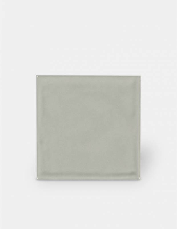 Carrelage 15 x 15 cm martelé gris à effet artisanal - LU7404053