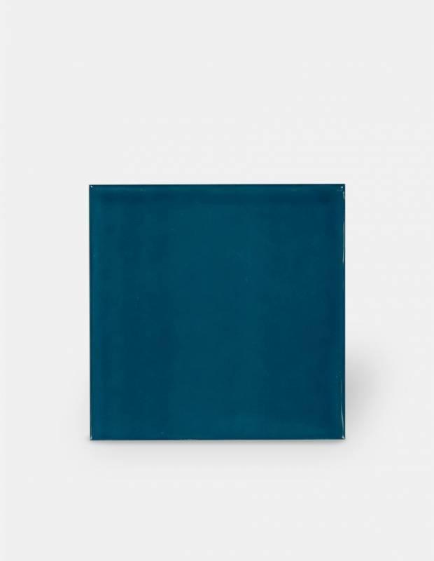 Gehämmerte Fliese 15 × 15 cm entenblau Handmade-Effekt - LU7404056