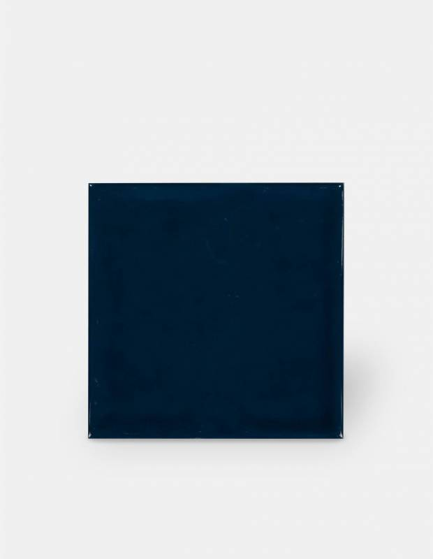 Carrelage 15 x 15 cm martelé bleu marine à effet artisanal - LU7404057